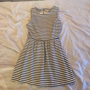 J Crew Petite Striped Daybreak Dress
